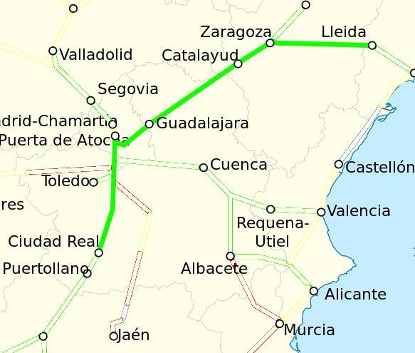 Ruta Ave Ciudad Real Lleida
