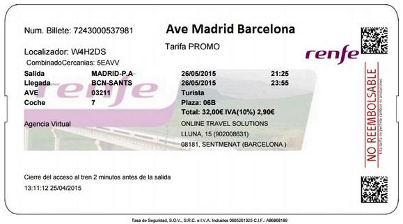Billetes ave madrid barcelona baratos - Billetes muy baratos ...